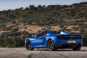 sports car car mclaren mc4-12c blue cars rear view