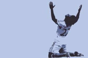 sports minimalism arms up soccer sport  chelsea fc digital art men