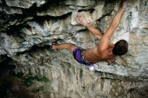 sports muscular men men outdoors rock climbing
