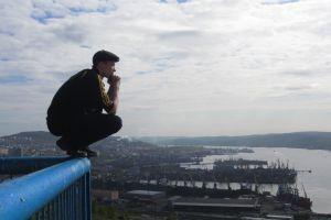squatting slav squat harbor city cityscape