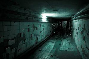 stairs hallway render digital art shadow dark
