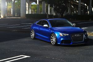 stance blue cars car audi urban blue vehicle rims audi rs5