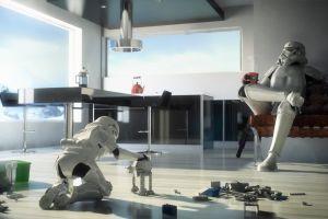 star wars lego toys humor artwork children stormtrooper digital art