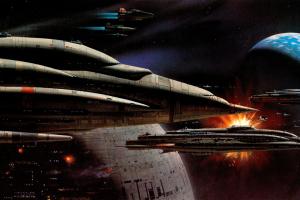 star wars science fiction artwork endor death star concept art
