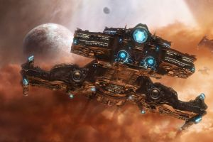 starcraft starcraft ii video games starcraft ii: wings of liberty artwork space hyperion science fiction spaceship
