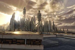 stargate futuristic city atlantis digital art