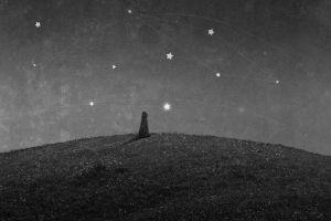 stars monochrome artwork