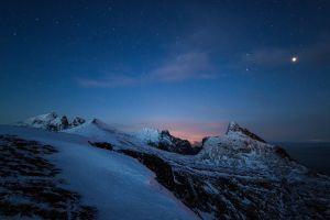 stars nature sky nevada mountains landscape