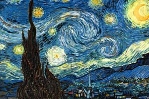 stars painting the starry night classic art surreal