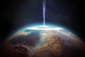 stars space science fiction space art digital art planet earth