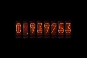 steins;gate time travel divergence meter nixie tubes numbers anime
