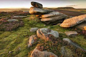 stones field landscape rock