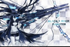 strength (black rock shooter) black rock shooter anime girls kuroi mato anime