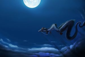 studio ghibli spirited away dragon haku anime