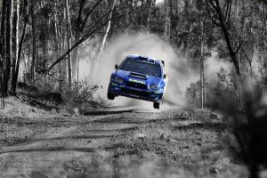 subaru rally cars selective coloring car dust
