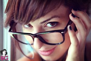 suicide girls painted nails women glasses pornstar