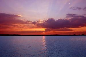 sun sunlight landscape sea clouds sunset sky