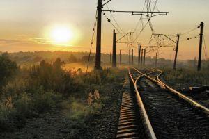 sunlight landscape railway