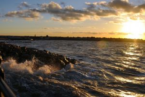 sunlight landscape sunset sea nature beach