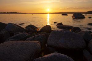 sunlight nature stones
