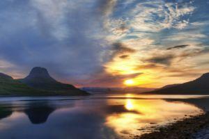 sunlight sky landscape water