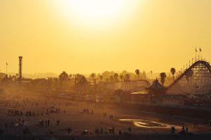 sunlight sunset people