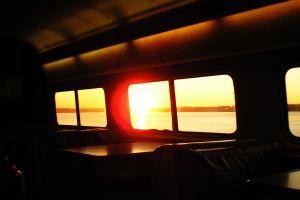 sunlight train dark vehicle