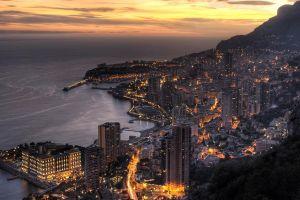 sunset architecture city lights