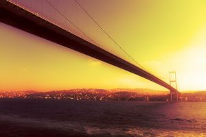 sunset bosphorus istanbul bridge