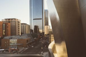 sunset building cityscape architecture
