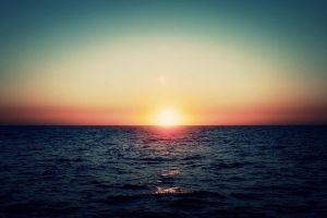 sunset horizon sky filter sunlight sea