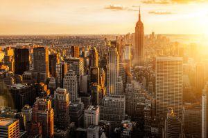 sunset manhattan new york city