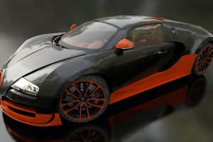 super car  bugatti veyron super sport super car