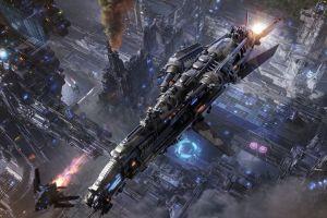 supreme commander  video games artwork spaceship digital art futuristic
