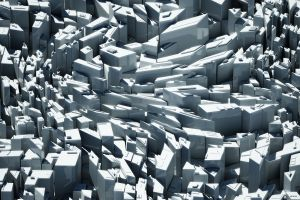 surreal render digital art abstract cgi building cityscape white architecture gray