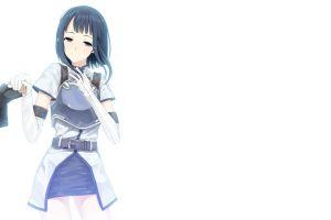 sword art online anime girls black eyes sachi anime dark hair white background