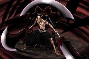 sword bankai bleach ikkaku madarame hollow samurai