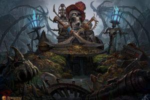 sword skull wings fantasy art