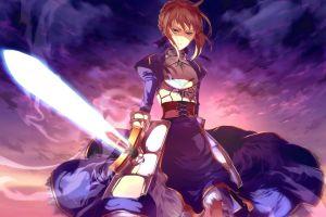 sword type-moon fate/stay night fate/zero anime anime girls fate series saber