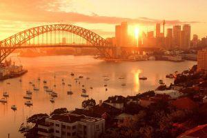 sydney australia city sydney harbour bridge