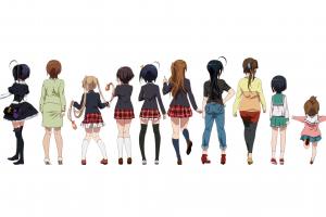 takanashi touka chuunibyou demo koi ga shitai! nibutani shinka anime girls white background miniskirt simple background kumin tsuyuri takanashi rikka anime dekomori sanae