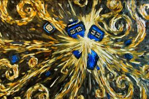 tardis painting vincent van gogh doctor who