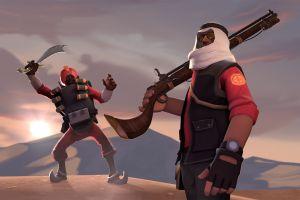 team fortress 2 sniper (tf2) demoman video games