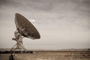 technology radio telescope satellite desert landscape telescope