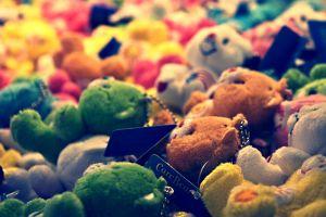 teddy bears toys depth of field filter