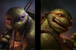 teenage mutant ninja turtles realistic fantasy art