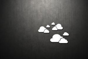 texture clouds digital art minimalism monochrome