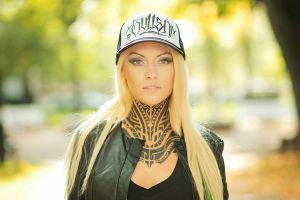 teya salat pierced nose pierced lip women tattoo