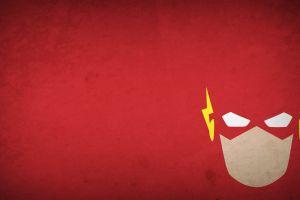 the flash red background comics hero flash dc comics simple background superhero blo0p minimalism