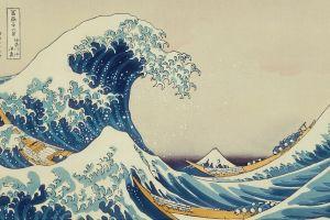 the great wave off kanagawa painting artwork japanese waves classic art